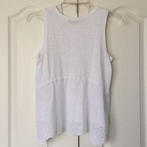LOFT Tops - Adorable white tank with lace detail by The Loft